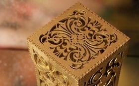 Декоративная подарочная упаковка из дерева