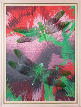"""Декоративная картина """"Зеленые стрекозы"""" 300-24"""