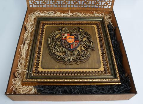 Герб Армении в матовом исполнении
