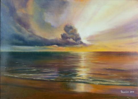 Закат на море №2