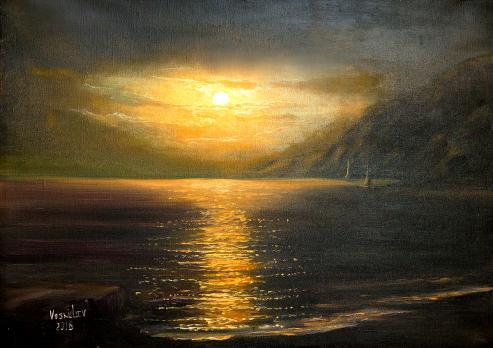 Ночь на море
