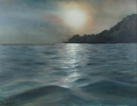 Закат на крымском берегу