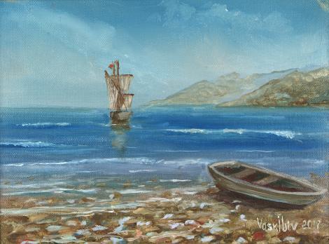 Парусник у берега